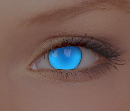 We love these out-of-this-world UV Electric Blue Contact Lenses - great addition to a mermaid costume #halloween...x