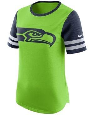 Nike Women's Seattle Seahawks Gear Up Fan Top T-Shirt - Green M