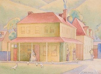 rita angus - Sunday morning, duvauchelle 1933