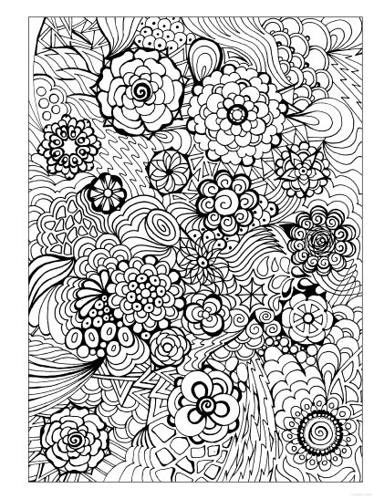 124 best Coloring Pages for Adults images on Pinterest