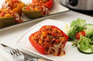 Slow-Cooker Italian-Stuffed Peppers