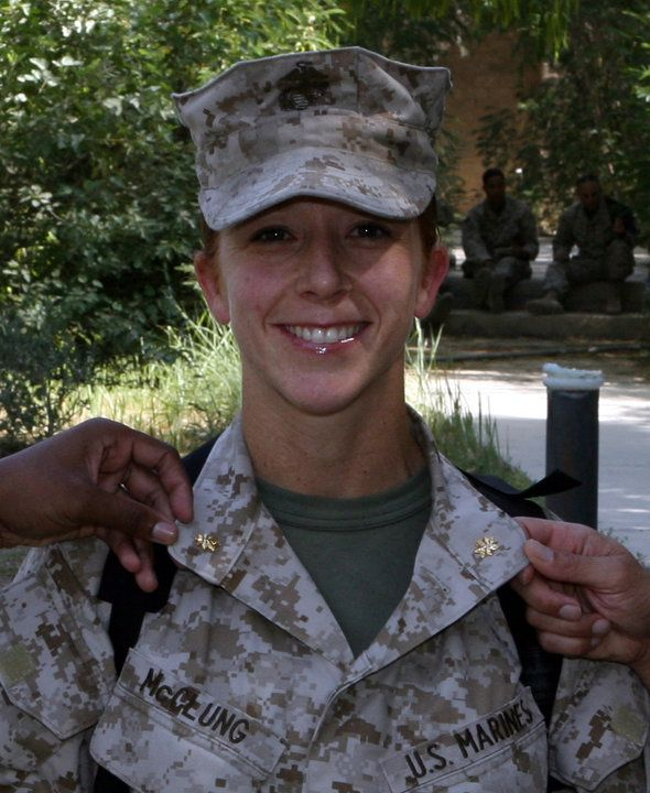 Maj. Megan McClung // I Marine Expeditionary Force // KIA December 2006 // Ramadi, Iraq. // She was the first female United States Marine Corps officer killed in combat during the Iraq War. // She was also the first female graduate of the United States Naval Academy to be killed in action since the school was founded in 1845.
