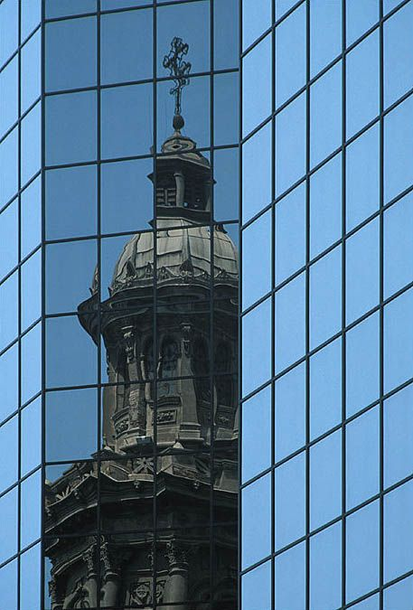 Old vs. New Architecture in Santiago, Chile