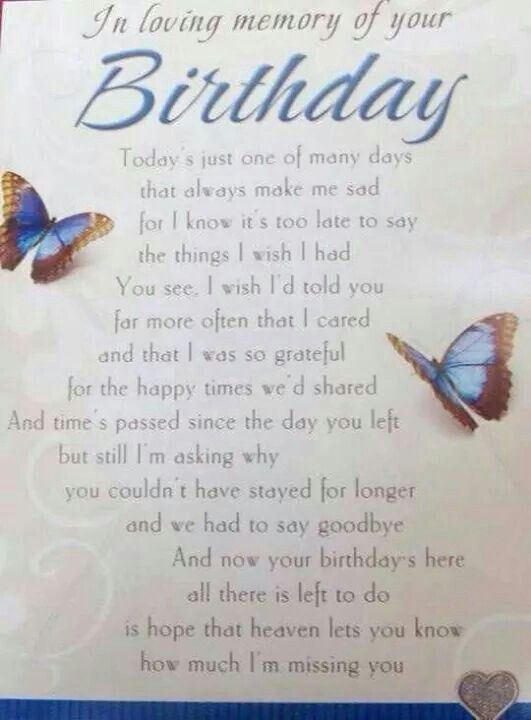 Butterfly Birthday Wishes Heaven