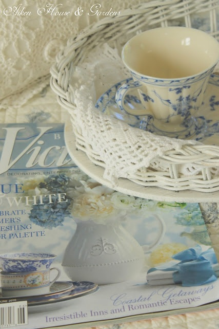 Tea and Victoria magazines  i have most of them from the premier issue to 2000 I keep them arranged by months.