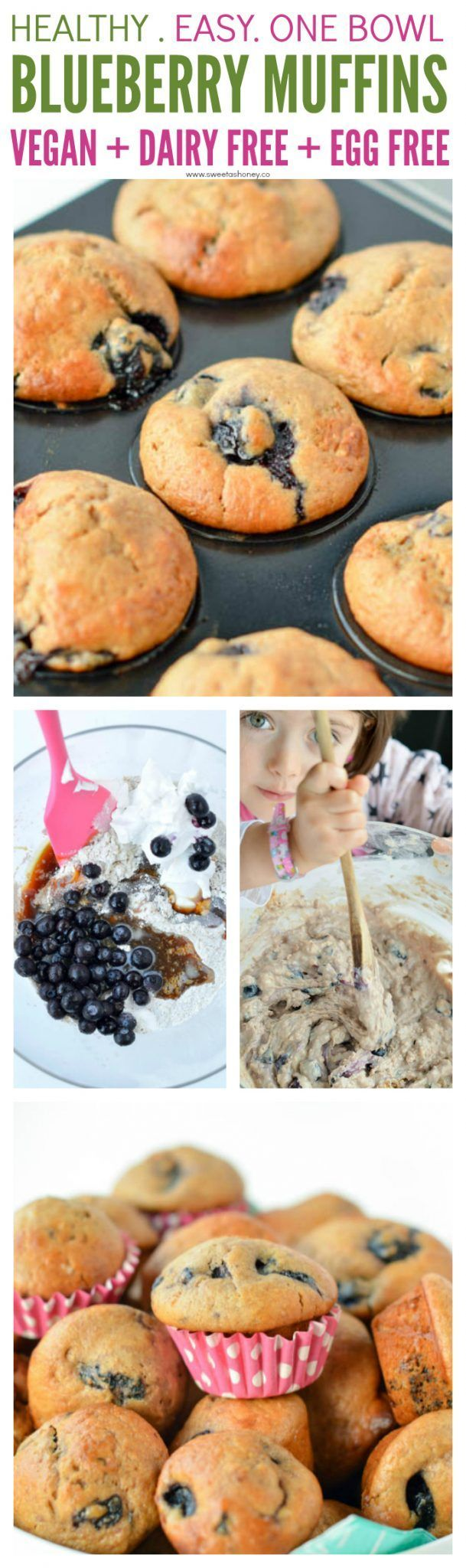 Easy Eggless Blueberry Muffins with yogurt using 100% dairy free coconut yogurt made from coconut cream. The best veganfood homemade muffins with no refined sugar, coconut oil and almond milk. A moist blueberry muffin ready in less than 20 minutes. If you are not vegan the recipe works with any yogurt like soy or Greek yogurt (if not vegan). #vegan #blueberry