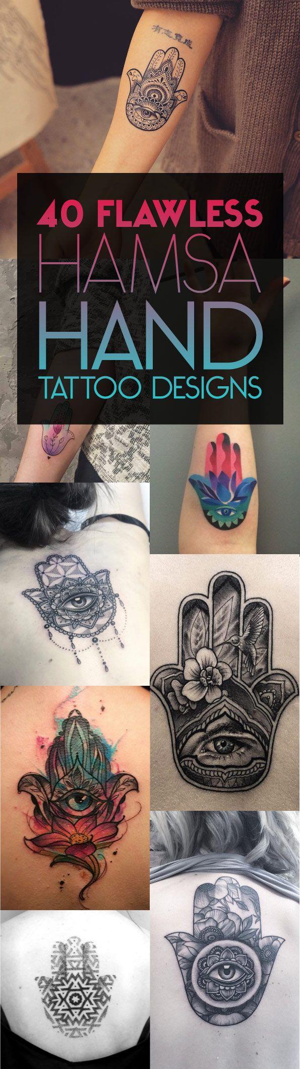 40 Flawless Hamsa Hand Tattoo Designs   TattooBlend
