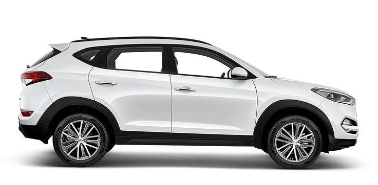 Couro nas portas e bancos, amplo espaço no porta malas (644 litros), rodas de liga leve, motor 2.0 16v dual cwt o Tucson Flex Hyundai é ideal para estrada!