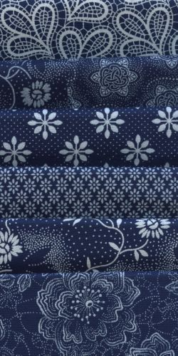 Indigo Blues could be mixed for seating surfaces on upholstery pieces