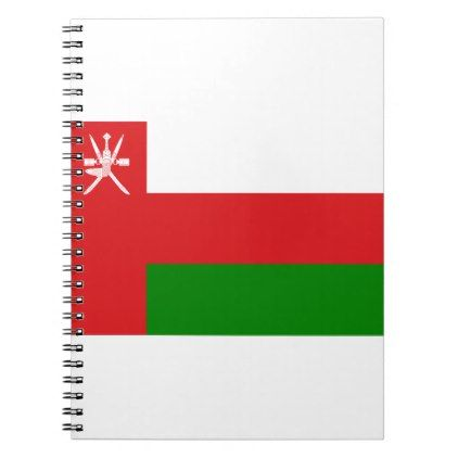#Low Cost! Oman Flag Spiral Notebook - #travel #office #gifts