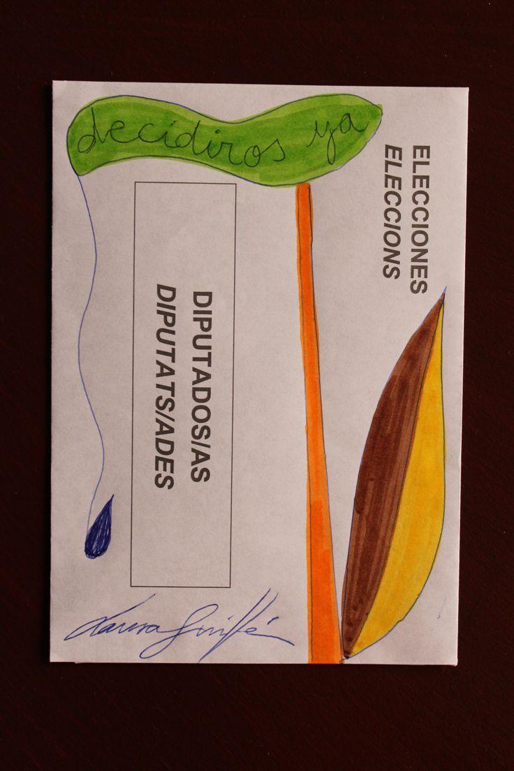 LAURA GUILLÉN SOBRE ELECCIONES GENERALES ESPAÑA 26 DE JUNIO 2016 ARTE ART ARTISTA ARTIST FLOR FLOWER