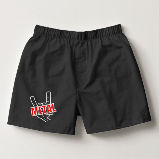 Heavy Metal Salute Music Boxers