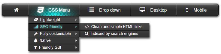 Another great black CSS menu with amazin hover effect. http://swimbi.com