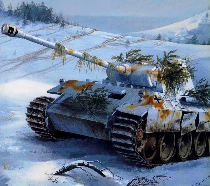 tank artwork pzkw5 panther tank art battle drawing german germany