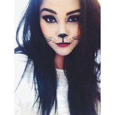 cat makeup... Cat halloween costume?                                                                                                                                                     Mais