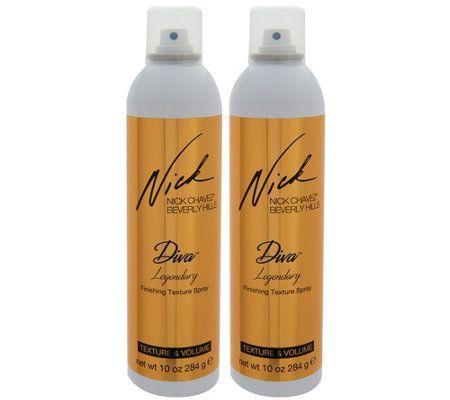 Nick Chavez Diva Legendary Dry Texturizing 10 oz. Spray Duo