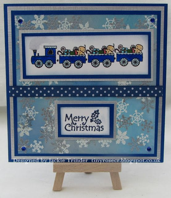 Tinyrose's Craft Room: Christmas Train for the Isobel Craft Collection using the Christmas Designs set of stamps