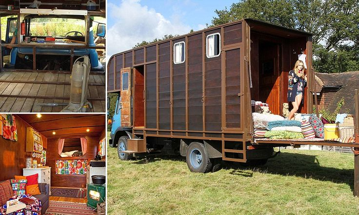Gardeners convert old horse box into £135-a-night hotel room on wheels