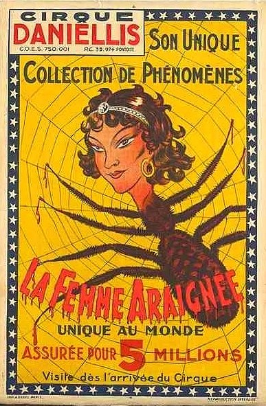 Letterology: The Spider Woman with Circus Danielli and his unique collection of Phemomenon.