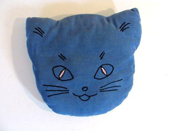 Vintage cat pillow