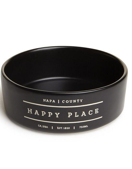 Happy Place Napa Dog Bowl