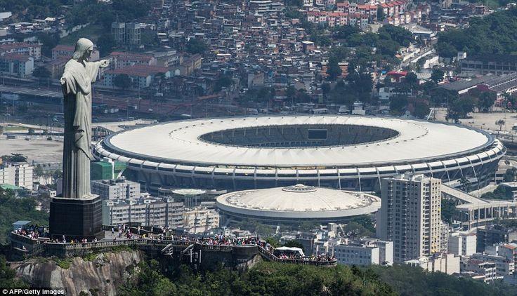 he Rio de Janeiro skyline with the famous Maracana Stadium in the background
