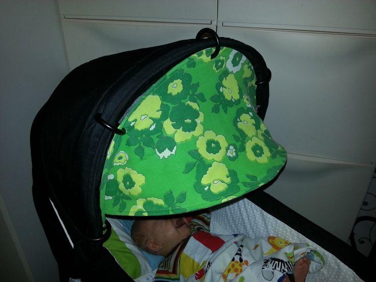 Extra sun hood to the pushchair / pram / stroller. Tutorial. Make your own.
