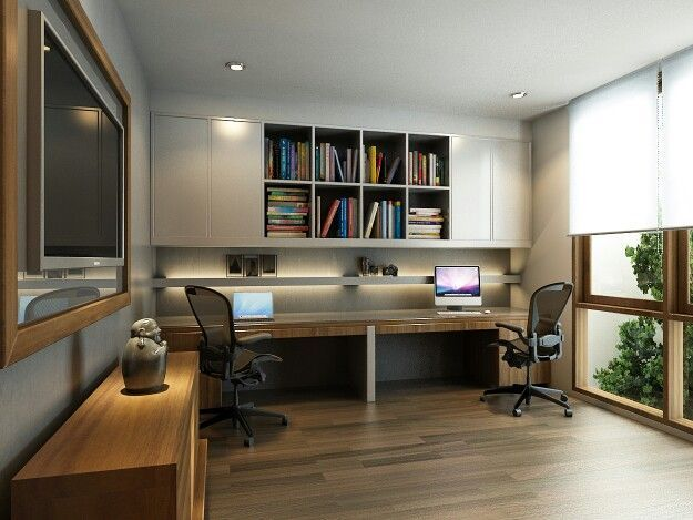 While furnishing apartment or house, many neglect such an important room as home office. However, separate room decorated in special style perfectly suits for h