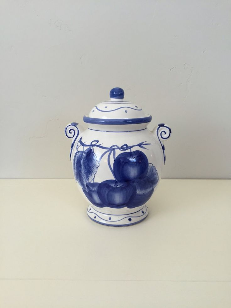 Biscotti Jar, Hand painted Italian Design, Made in China. **Sale**