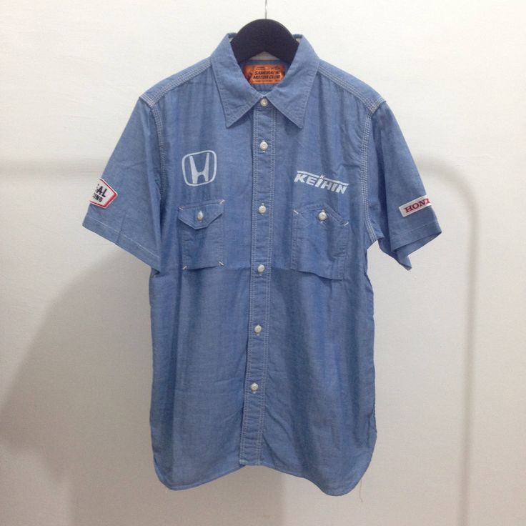 "Samurai Jeans pocket button shirt ""kustom kulture edition"" by Okubukovintagestuff on Etsy"