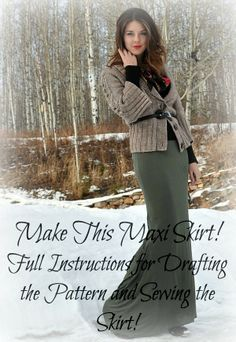 Slinky Maxi Skirt DIY | Tasha Delrae - Nice tute. I think I would make this just below knee length.