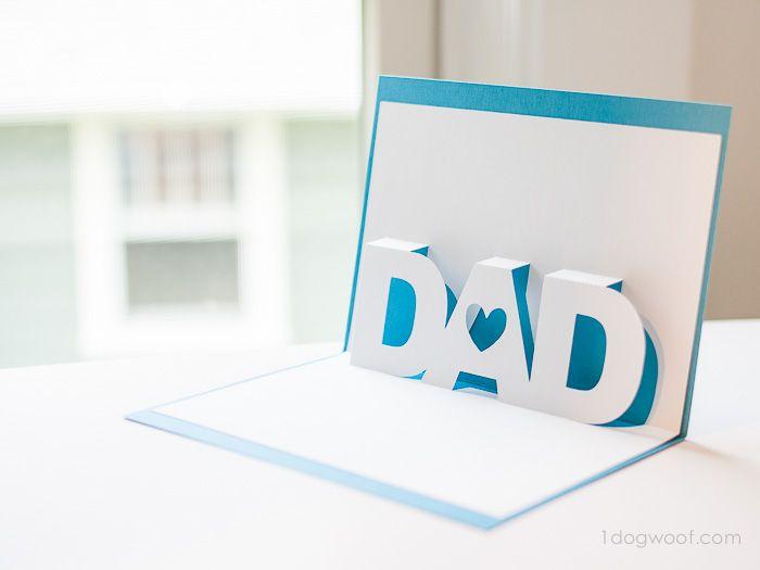Father's Day Pop-up Card   www.1dogwoof.com