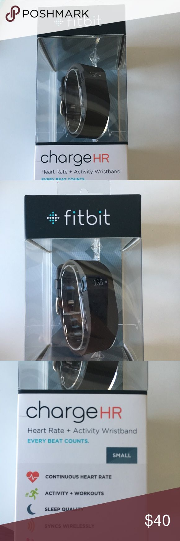 Fitbit Charge HR new and in box, track heart rate, sleep, activity, syncs wirelessly Accessories Watches
