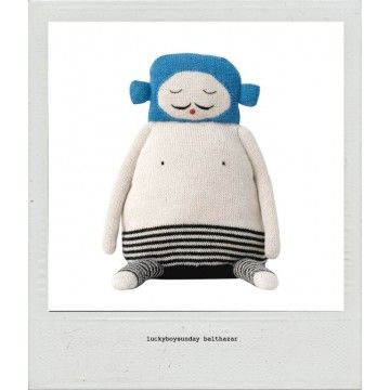 LuckyBoySunday Balthazar at childrens dept www.childrensdept.com.au #luckyboysunday #knittedtoy #luckyboysundaybalthazar #childrensdept