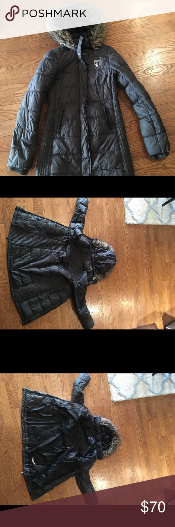 Stay Warm with this Winter Coat Puffer coat to keep up warm in the winter months. Fur lined hood. The zipper can be opened and closed on both the top and bottom of the jacket to allow for flexibility to on how open you want the coat to be. American Eagle Outfitters Jackets & Coats Puffers