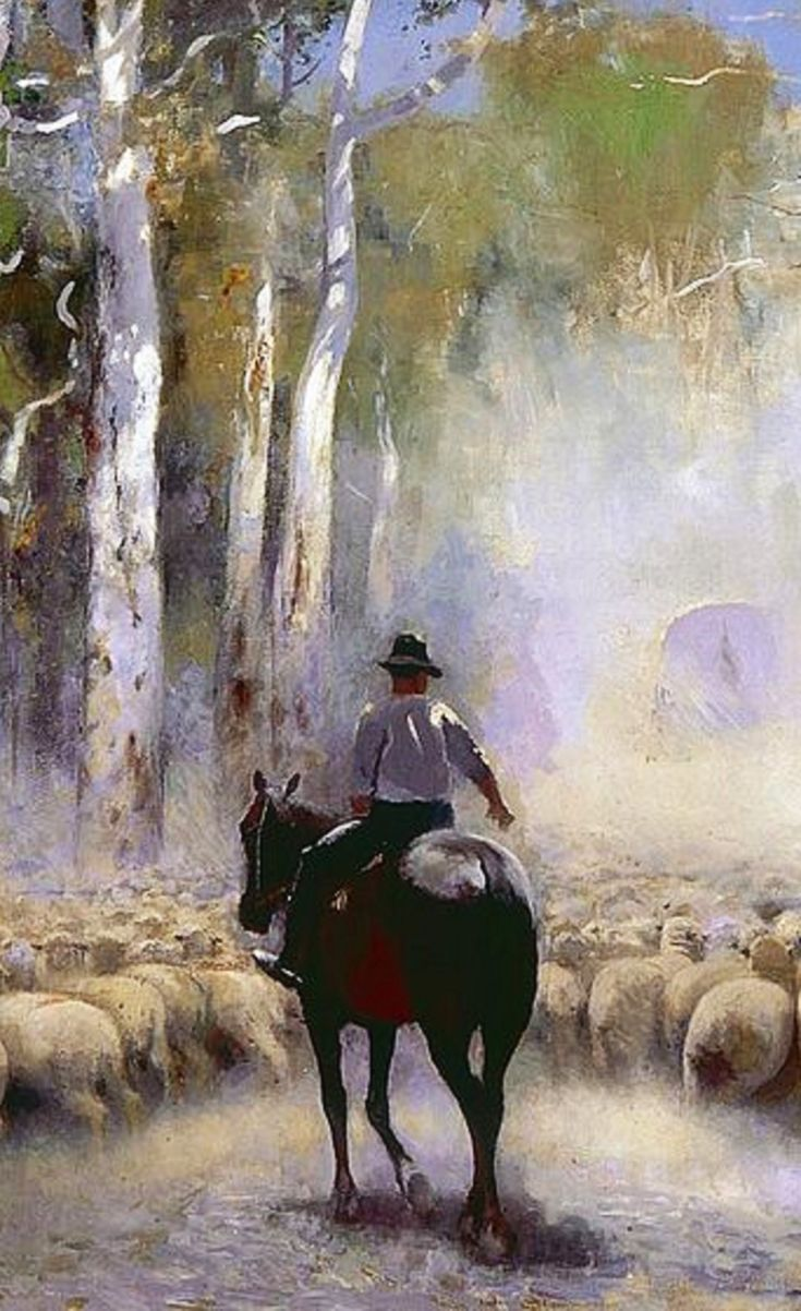 The Drover. Walter Withers. Australia. 1912.