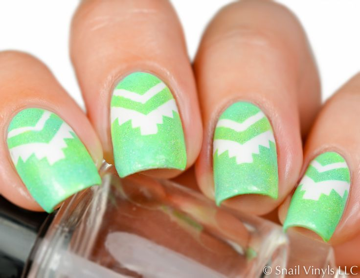 Brights& cute designs by @mgshel! Thank you for this über cute mani! * Aztec #NailVinyls  www.snailvinyls.com