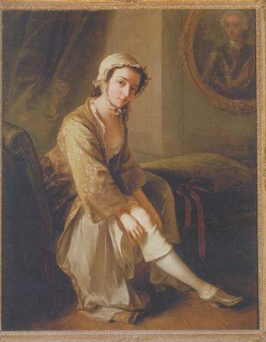 woman's banyan - Phillip Mercier
