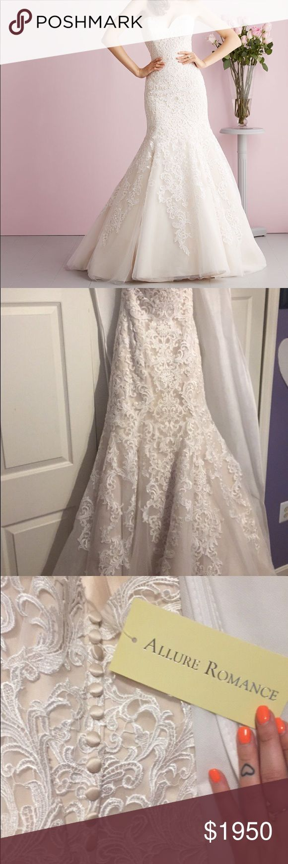 Allure Romance Wedding Gown Style: 2709 Color- Ivory/ Champagne Mermaid Style.  Never worn, never altered, never even tried on.  Size 8 Allure Bridals Dresses Wedding