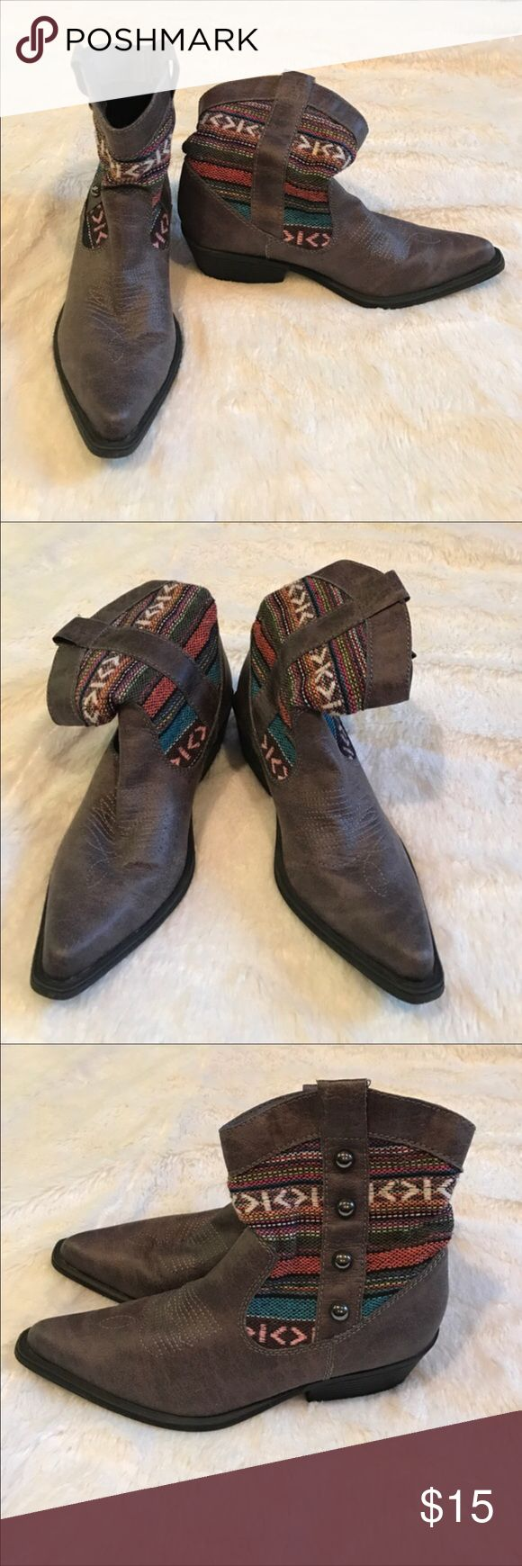 Madden Girl cowboy boots Great condition. Bought but they fit to snug. Madden Girl Shoes Ankle Boots & Booties