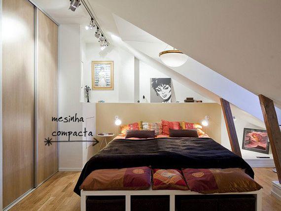 Um quarto pequeno dentro de uma casa pequena pode se tornar uma pedra no sapato na hora de decorar. Como colocar em um espaço limitado, uma cama confortável, um armário e pelo menos alguns acessórios para dar aconchego? Resolver esta questão é um desafio e tanto, principalmente porque a cama – estrela principal do ambienteLeia mais
