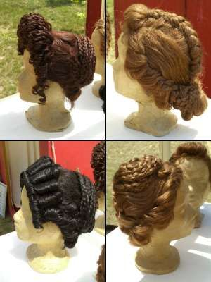 The upper right has an interesting interpretation of Livia's central braid as a braid augmented by that central section.... interesting... Datei:Frisuren.jpg