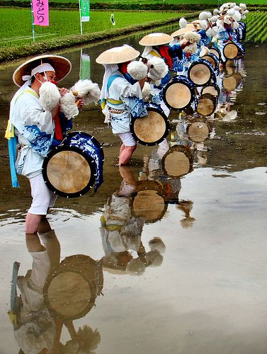 Rice planting festival (Tauebayashi Matsuri) in Iwami, Japan: photo by Ojisanjake