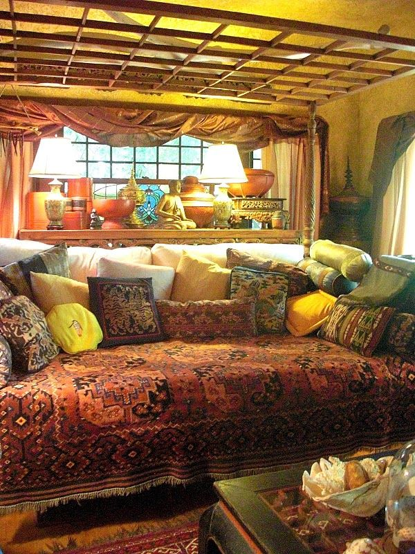 174 best boho hippie gypsy chic diy decor tutorials images for Hippie living room ideas