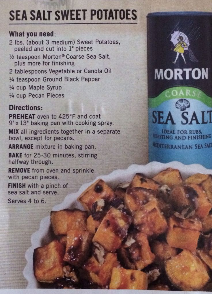 Sea Salt Sweet Potatoes - low FODMAP (nuts may be omitted)