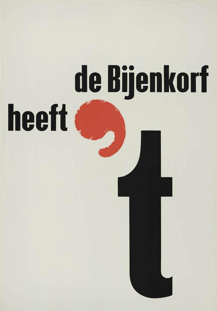 Gerard Wernars, De Bijenkorf heeft 't, Stichting Nederlands Archief Grafisch Ontwerpers