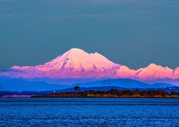 Beautiful Mount Baker As Seen from Victoria, British Columbia, Canada