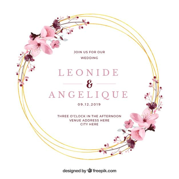 Download Watercolor Floral Frame Wedding Invitation For Free In