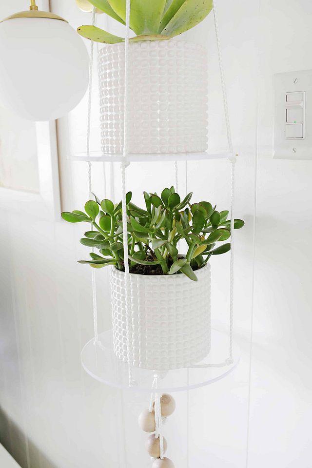 Acrylic Shelf Hanging Planter DIY 290 best