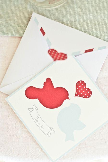 Free Valentine card and envelope #free #printable